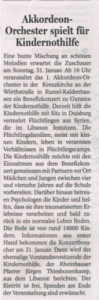 NRZ, 25.01.2015, Lokalteil Duisburg-West